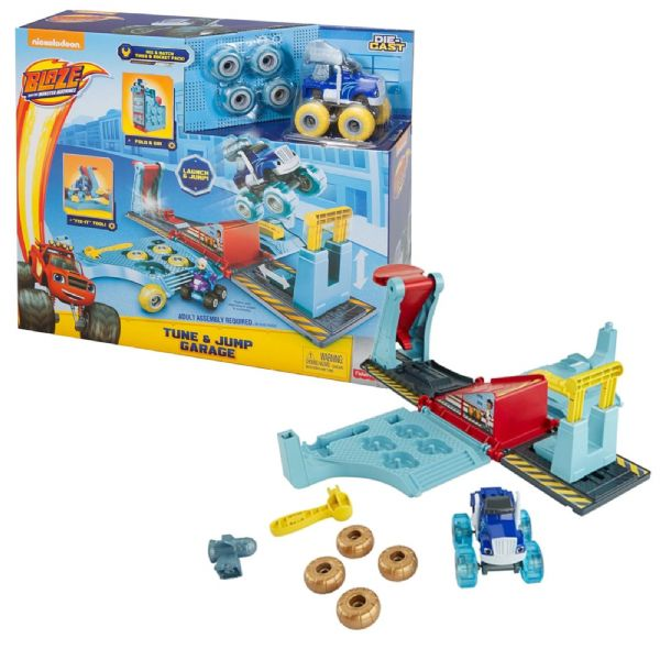 Fisher Price Nickelodeon Blaze and the Monster Machines Tune & Jump Garage